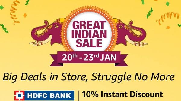 Amazon Great Indian Sale 2019 From 20th Jan to 23rd Jan Specially For Prime Members