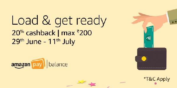 Amazon Prime Day Offers | 20% Cashback on Adding Money + 15% Cashback with HDFC + Free Gift Cards.