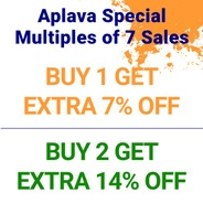 Aplava Independence Day Offer - Buy 1 and Get Extra 7% Off & Buy 2 Get Extra 14% Off | Aplava Offer