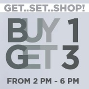 Buy 1 Get 3 Free On Clothing & Accessories (2 pm - 6 pm) | Jabong Offer