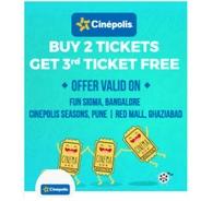 Buy 2 Movie Tickets & Get 1 Ticket Free | Bookmyshow Offer
