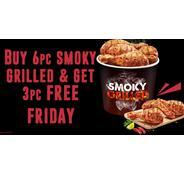 Buy 6pc Smoky Grilled & Get 3pc Free only Friday | KFC Offer