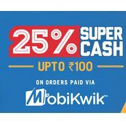 Dominos Mobikwik Offers - Get 25% Supercash Upto Rs.100 on Dominos Orders Using Mobikwik | Dominos O