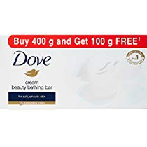 Dove Cream Beauty Bathing Bar, 100g (Buy 4 Get 1 Free) at Rs 120 | Amazon Offer