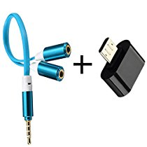 Edios (Buy One Get One Android otg in multi color) 3.5mm gold plated Y splitter cable for speaker &