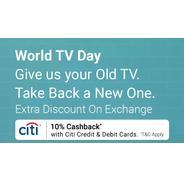 Flipkart World TV Day Offers - Get 10% Cashback with CITI Cards on Televisions | Flipkart Offer