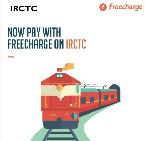 Freecharge IRCTC Cashback Offer on Ticket Booking- Get Rs 100 on Payment via Wallet.