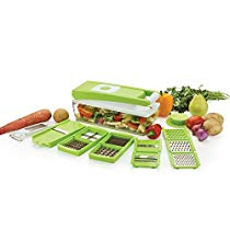 Ganesh Vegetable Dicer, 12 Cutting Blades, Green at Rs 375 | Amazon Offer