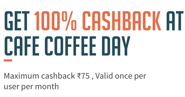 Get 100% Cashback on Cafe Coffee Day Via Freecharge