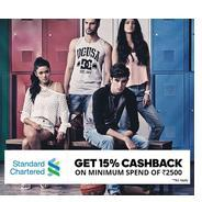 Get 15% Cashback Shop Above Rs.2500 or More Using With Standard Chartered Cards | Jabong Offer