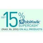 Get 15% Cashback Upto Rs.200 To All Products Pay Using Mobikwik | Netmeds Offer