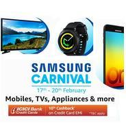 Get 17th-20th Feb. - Samsung Carnival Mobiles, TVs & Appliances | Amazon Offer