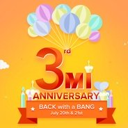 Get 20 July -21 July - 3rd Mi Anniversary Sale | yumist Offer