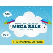 Get 22nd-23rd July - Zopnow Mega Weekend Monsoon Sale | ZopNow Offer