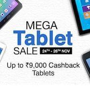 Get 24th - 26th - Mega Tablet Sale - Upto Rs.9000 Cashback On Tablets | paytmmall Offer