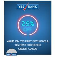 Get 25% Discount On Your Movie Tickets With Select Yes Bank Credit Cards | Bookmyshow Offer