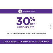 Get 30% Cashback Upto Rs.125 on the First valid UPI Payment | ticketnew Offer