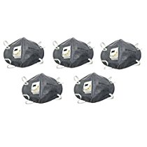 Get 3M CL 9004V_5 Anti Pollution Mask Pack of 5 Grey at Rs 143 | Amazon Offer