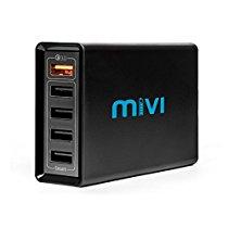 Get 5 port 8A Mivi Desktop charger (Black) at Rs 1799   Amazon Offer