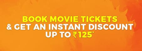 Get 50% Off on movie ticket booking at Bookmyshow