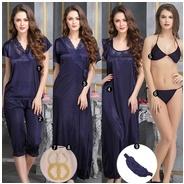 Get 9 Pc Navy Nightwear Set at Rs 999 | Clovia Offer