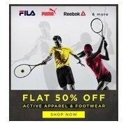 Get Active Apparel & Footwear Flat 50% OFF | Abof Offer