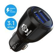 Get [Adaptive Fast Charging / QC 2.0] GeekCases Car Charger Dual USB Ports - AFC & 3.1A / Smart LED