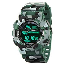 Get Addic Multicolor Dial Army Green Strap Digital sports Watch at Rs 445 | Amazon Offer