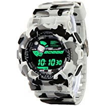 Get Addic Multicolor Dial Army White Strap Digital sports Watch at Rs 539 | Amazon Offer