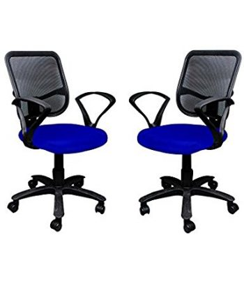 Get Adiko ADPND 075 Mesh Back Chair, Set of 2 (Blue) at Rs 7000 | Amazon Offer