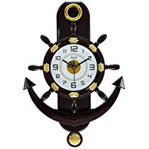 Get Altra Plastic Pendulum Wall Clock (45 cm x 30 cm x 5 cm, Brown) at Rs 499 | Amazon Offer