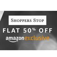 Get Amazon Exclusive Shoppers Stop Clothing Flat 50% OFF | Amazon Offer