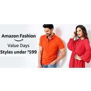Get Amazon Fashion Value Day - Styles Under Rs.599 at Rs 599 | Amazon Offer