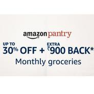 Get Amazon Pantry Monthly Groceries Offer - Upto 30% OFF + Extra Rs.900 Back | Amazon Offer