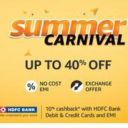 Get Amazon Summer Carnival Upto 40% OFF | Amazon Offer