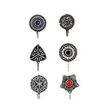 Get Anuradha Art Silver Finish Designer Classy Press On Combo Pa at Rs 269 | Amazon Offer