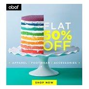 Get Apparel, Footwear & Accessories Flat 50% OFF | Abof Offer
