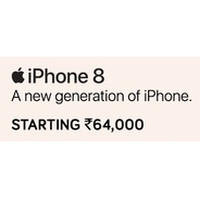 Get Apple IPhone 8 Smartphones Start Rs.64000 at Rs 64000 | TataCliq Offer