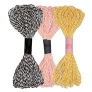 Get AsianHobbyCrafts Dual Color Paper Thread Twine Cord (2mm, 20m, 3 Pieces) at Rs 80 | Amazon Offer