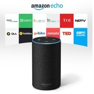 Get Available by Invitation Only - Amazon Echo (Includes 1 Year Prime Membership) - Black at Rs 6999