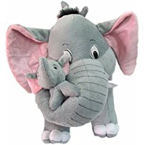 Get AVS Stuffed Spongy Hugable Cute Elephant With Baby Cuddles Soft Toy For Kids Birthday Return Gifts Girls Lovable Special Gift High Quality 26 CM Grey