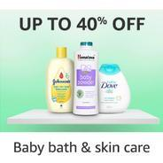 Get Baby Bath & Skin Care Products Upto 40% OFF Start Rs.40 at Rs 40   Amazon Offer