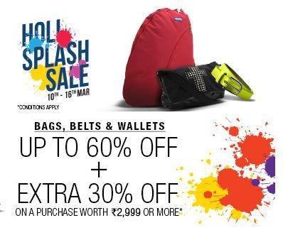 Get Bags, Wallets & Belts Min 70% off   at Rs 89   Flipkart Offer