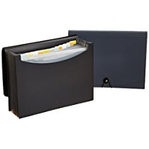 Get Basics Expanding File, Letter Size – Black/Gray (2-Pack) – with 13 pockets at Rs 525   Amazo