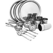 Get Bhalaria Pack of 36 Dinner Set (Stainless Steel) at Rs 1299 | Flipkart Offer