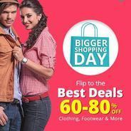 Get Bigger Shopping Days - Best Deals Flat 60% - 80% OFF | Shopclues Offer