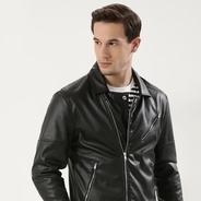 Get Biker Jacket With Printed Back at Rs 2499 | koovs Offer