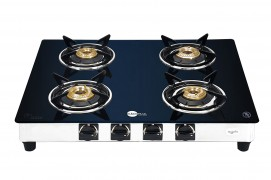 Get BlackPearl Glass 4 Burner Manual Gas Stove at Rs 3999 | Amazon Offer