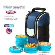 Get BMS Lifestyle Executive 2in1 Steel & Polypropylene Lunch Box Set, 8 Pieces , Gray at Rs 539 | Am