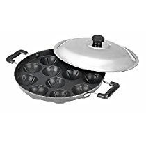 Get BMS Lifestyle Non-Stick 12 Cavity Appam Patra Side Handle with lid,(Color may vary) at Rs 349 |